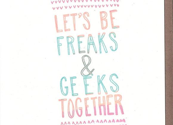 Freaks & Geeks Card