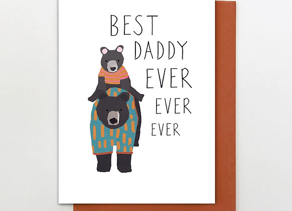 Best Daddy Bear Father's Day Card