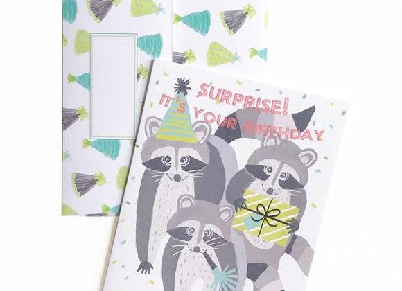Birthday Raccoons Card