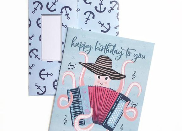 Birthday Octopus Card