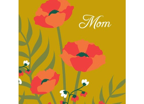 Poppies Mom Mother's Day Card