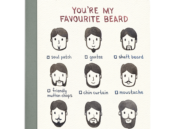 Favourite Beard Love Card