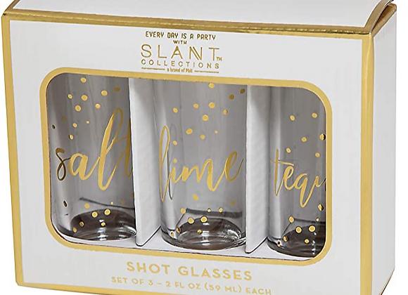 Salt, Tequila, Lime Shot glass Set