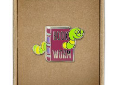 @304 Enamel Pin Bookworm