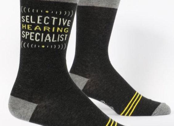 Men's Crew Socks Selective Hearing