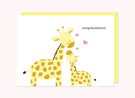 Giraffes Congratulations Card by Halifax Paper Hearts