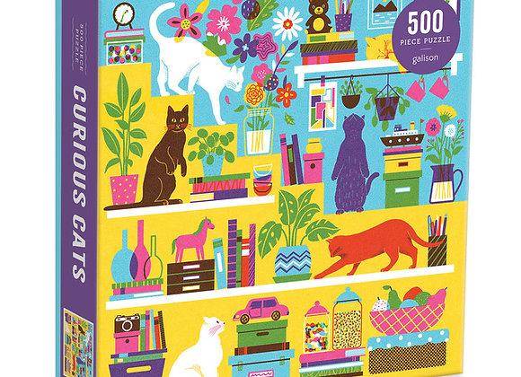 Curious Cats 500 Piece Puzzle