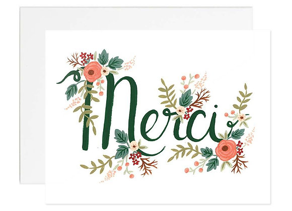 Floral Merci Card