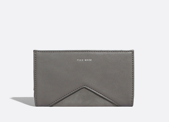 Sophie wallet - grey nubuck
