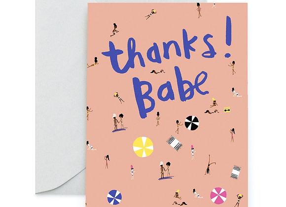 Beach Babes Thank You Card