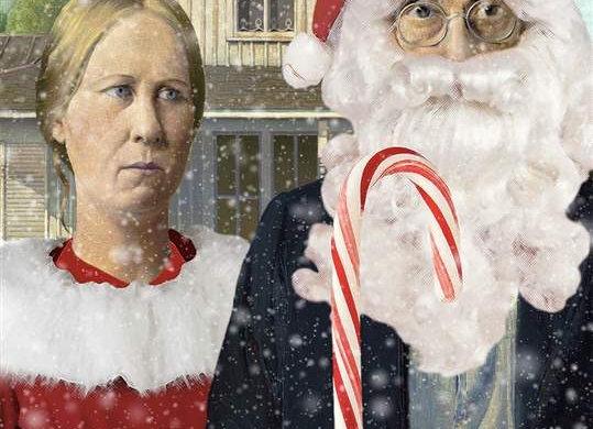 North Polar Gothic Holiday Card