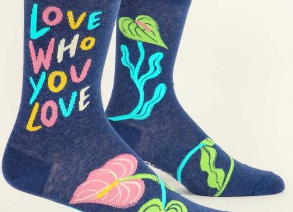 Men's Crew Socks Love Who Love You
