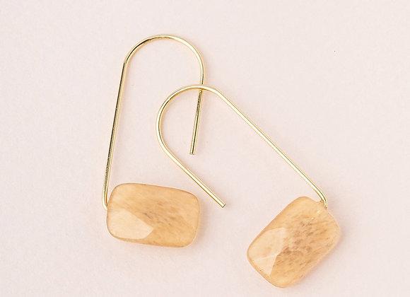 Floating Stone Earring Citrine Gold