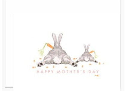 Mom & Baby Bunny Mother's Day Card