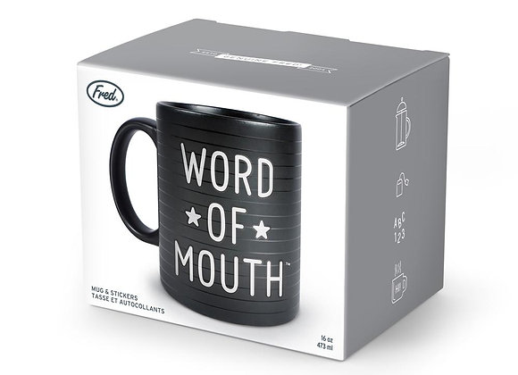 Word of Mouth mug