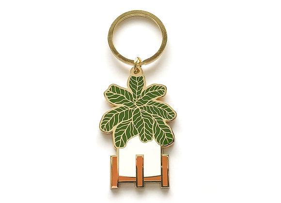 Fiddle Leaf Keychain