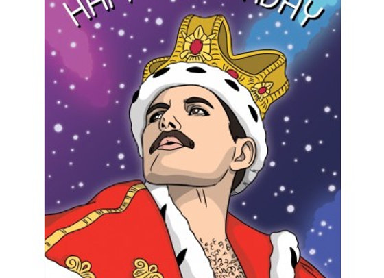Freddie Mercury Happy Birthday Card by The Found