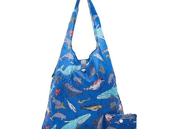 Shopping Tote - Blue Sea Creatures