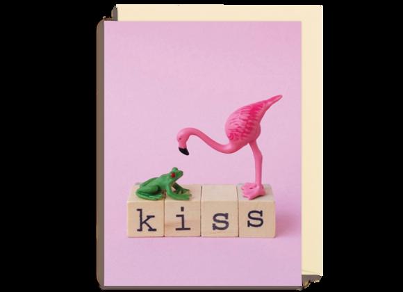 Mini Kiss Flamingo Card