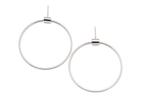Swing Hoop Large Earrings