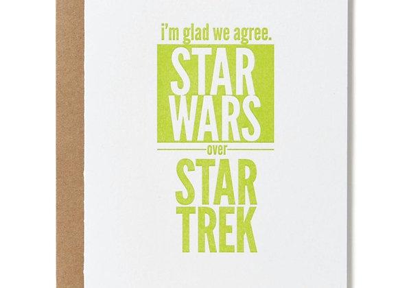 Star Wars Over Star Trek Card