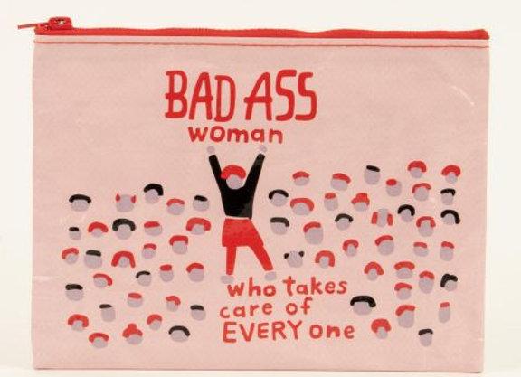 Zipper Pouch - Bad A** Woman