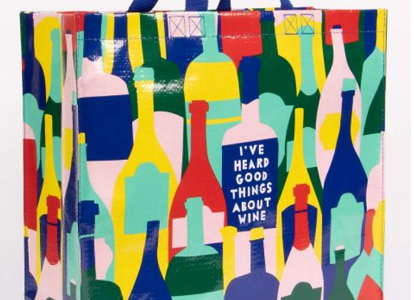 Large Shopping Tote - Good Things About Wine
