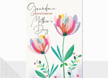 Grandma Lots Of Love On Mother's Day Card
