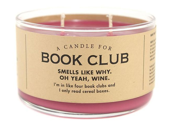 Candle For Book Club