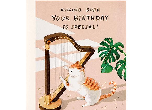Aliens Birthday Card