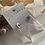 Thumbnail: Flying V 4cm Acetate Earrings In White Cystral