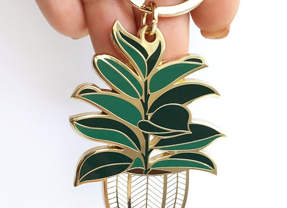 Rubber Tree Keychain
