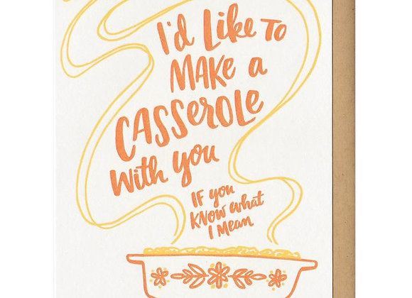 I'd Like To Make A Casserole Orange Card