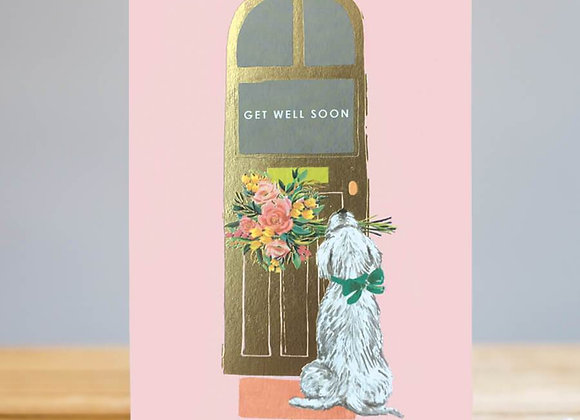 Get Well Soon Waiting Puppy Card