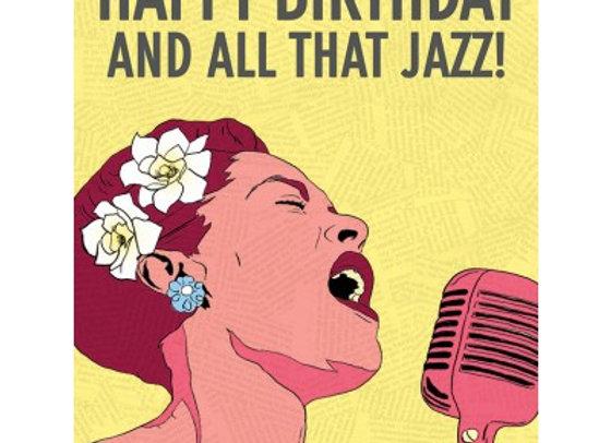 Billie Happy Birthday & All That Jazz Card by The Found