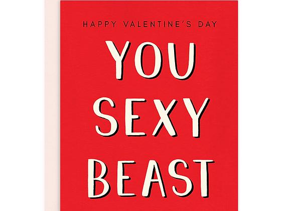 You Sexy Beast Card