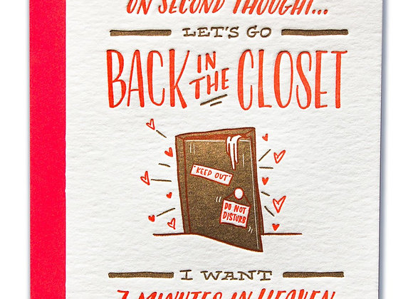 Back In The Closet Card