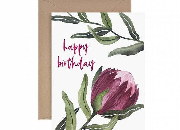 Protea Happy Birthday Card