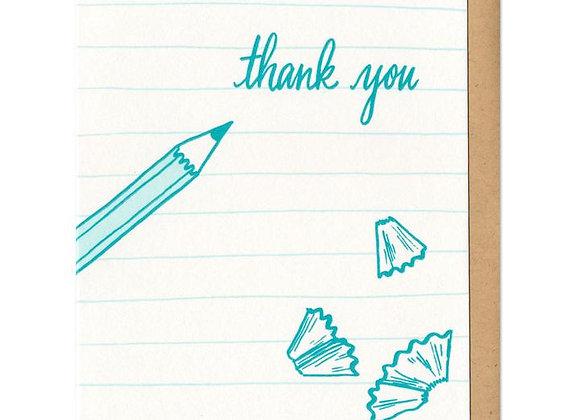 Thank You Pencil Card