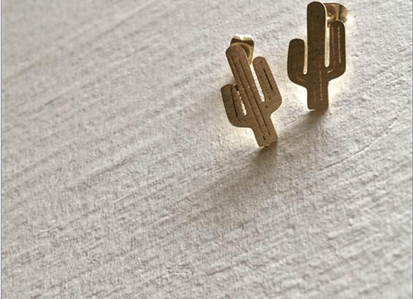 High Noon Saguaro Cactus Stud Earrings