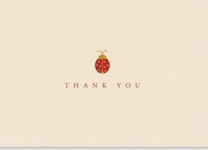 Ladybug Thank You Notecards