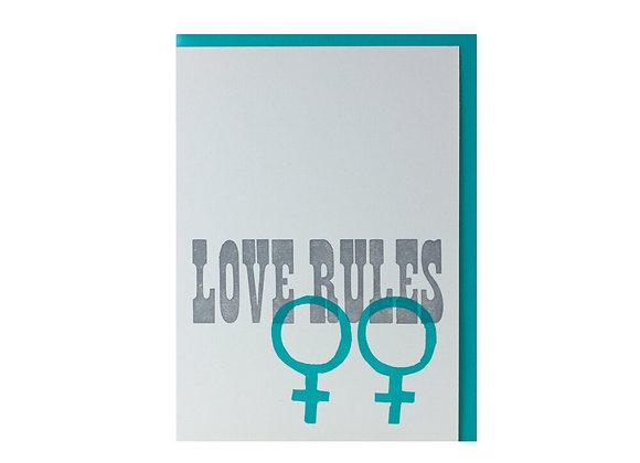 Love Rules Blue Card