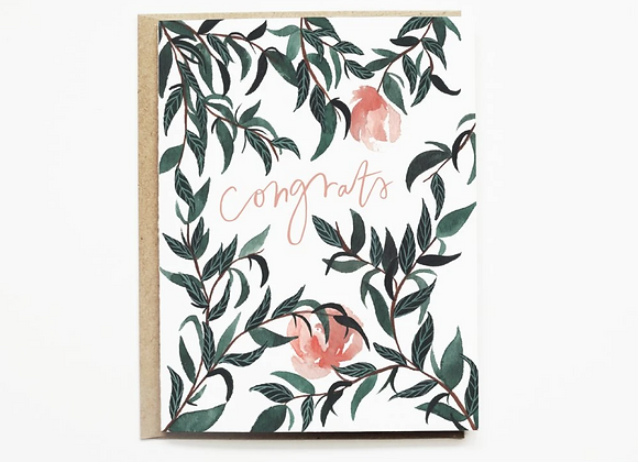 Pink Poppy Congrats Card