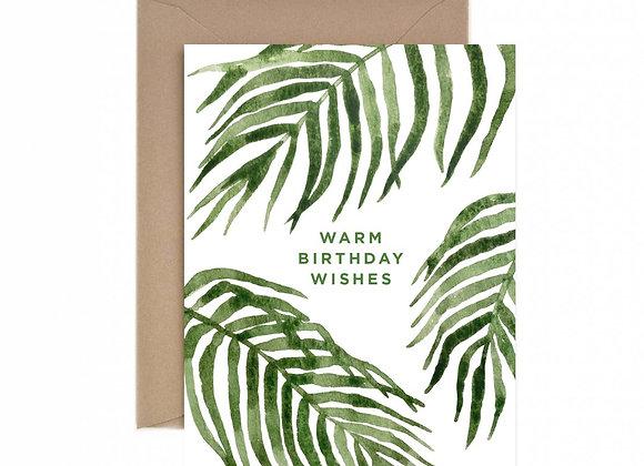 Warm Birthday Wishes Card