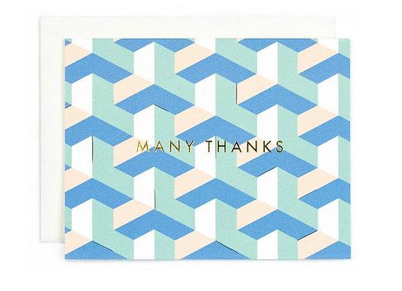 Many Thanks Foil Card