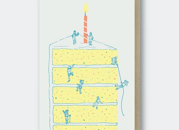 Cake Climbers Birthday Card