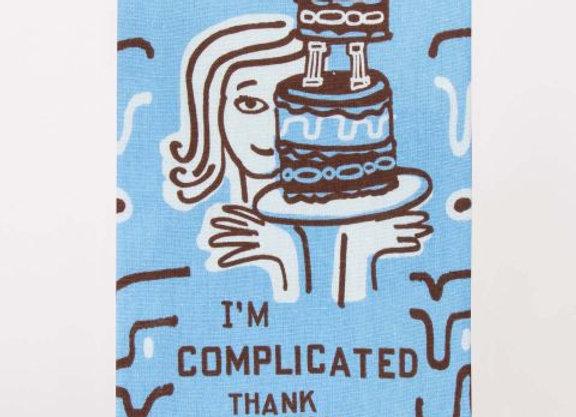 Cotton Dishtowel - I'm Complicated