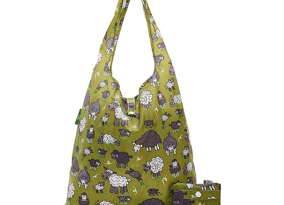 Shopping Tote - Green Sheep