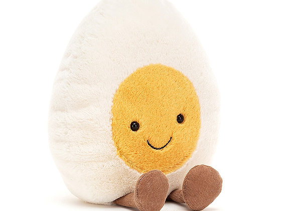 Emotive Boiled Egg Happy Plush Toy