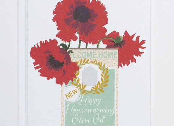 Olive Oil Can Housewarming Card